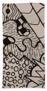 Aceo Zentangle Abstract Design Beach Towel
