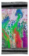 Acrylic Pouring Beach Towel
