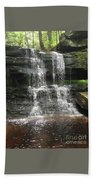 Aden Hill Waterfall Beach Towel by Kevin Croitz