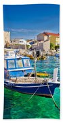 Adriatic Town Of Razanac Colorful Waterfront Beach Towel