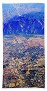 Aerial Usa. Los Angeles, California Beach Towel