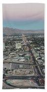 Aerial View Of Las Vegas City Beach Towel