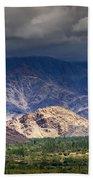 Aerial View Of Leh City Landscape Ladakh Jammu And Kashmir India Beach Towel