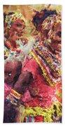 African Woman Beach Sheet