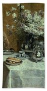 Afternoon Tea Beach Towel by Isidor Verheyden
