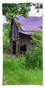 Aging Barn In Woods Series Beach Towel