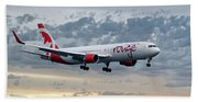 Air Canada Rouge Boeing 767-333 Beach Towel
