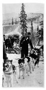 Alaskan Dog Sled, C1900 Beach Sheet