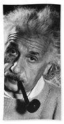 Albert Einstein (1879-1955) Beach Towel