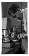 Albert Ghiorso, American Nuclear Chemist Beach Towel