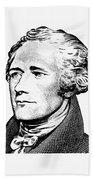 Alexander Hamilton - Founding Father Graphic  Beach Towel