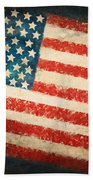 America Flag Beach Towel by Setsiri Silapasuwanchai