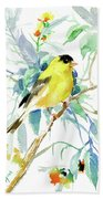 American Goldfinch Beach Towel