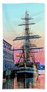 Amerigo Vespucci Tall Ship Beach Towel