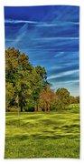 An Autumn Golf Day Beach Towel