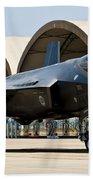 An F-35 Lightning II Taxiing At Eglin Beach Towel