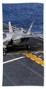 An F-35b Lightning II Makes A Vertical Beach Towel