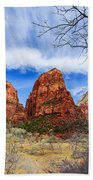 Angels Landing Beach Towel by Chad Dutson