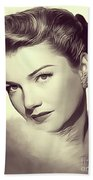 Anne Baxter, Vintage Actress Beach Towel
