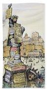 Anti-trust Cartoon, 1889 Beach Towel