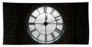 Antique Backlit Clock Beach Sheet