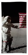 Apollo 17 Astronaut Salutes The United Beach Towel
