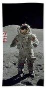 Apollo 17 Astronaut Stands Beach Towel