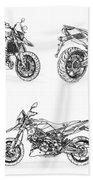 Aprilia Smv 900 Dorsoduro Drawing Beach Towel