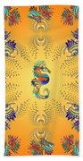 Aquarium Glow Oranges Beach Towel