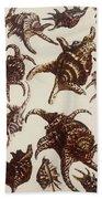 Aquatic Animals - Conch - Shells - Snails Beach Sheet