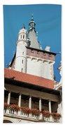 Architecture Details Of Pruhonice Castle Beach Towel