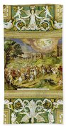Artistic Ceilings Within The Vatican Museums In The Vatican City Beach Towel