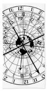 Astronomical Clock Beach Towel