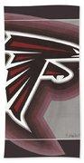 Atlanta Falcons Logo T-shirt Beach Towel
