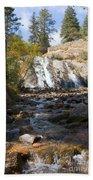Autumn At Helen Hunt Falls Colorado Beach Towel