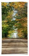 Autumn Backroad  Beach Towel