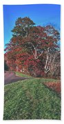 Autumn Countryside - North Carolina Beach Towel