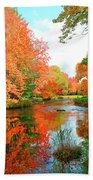 Autumn On The Mersey River, Kejimkujik National Park, Nova Scotia, Canada Beach Towel