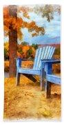 Autumn Splendor Watercolor Beach Towel