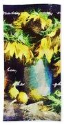 Autumn Sunflowers Beach Towel