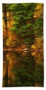 Autumns Calm Beach Towel