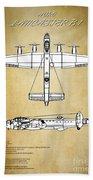 Avro Lancaster Bomber Beach Towel