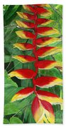 Balinese Heliconia Rostrata Beach Towel