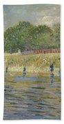 Bank Of The Seine Paris, May - July 1887 Vincent Van Gogh 1853 - 1890 Beach Towel