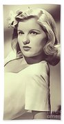 Barbara Bel Geddes, Vintage Actress Beach Towel