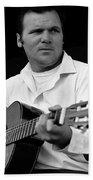 Barry Sadler With Guitar 3 Tucson Arizona 1971 Beach Towel