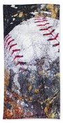 Baseball Art Version 6 Beach Towel