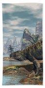 Batrachotomus Dinosaurs -3d Render Beach Towel