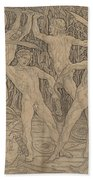 Battle Of The Nudes Beach Towel