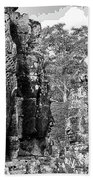 Bayon Faces  Beach Towel